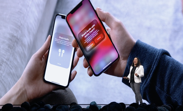 ios 13 airpods Shared listening