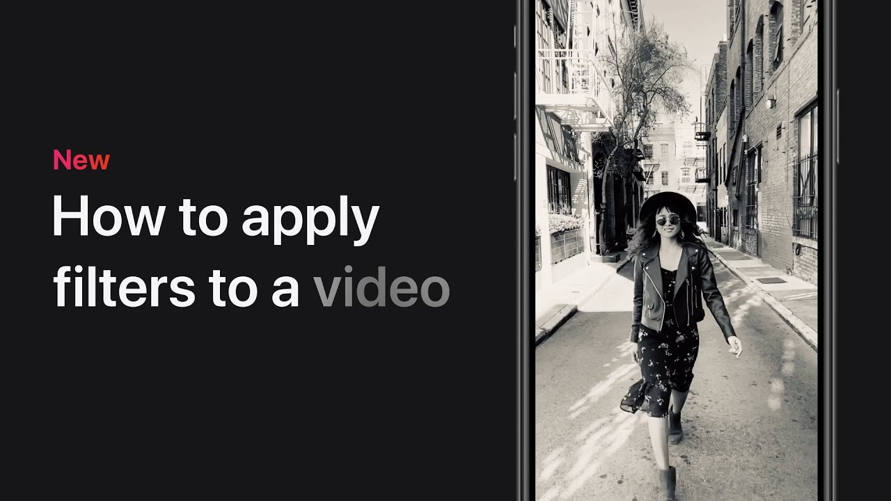 How to apply filters to a video on iPhone
