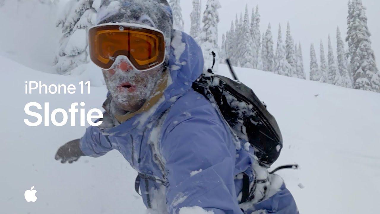 Slofie on iPhone 11 — Whiteout — Apple