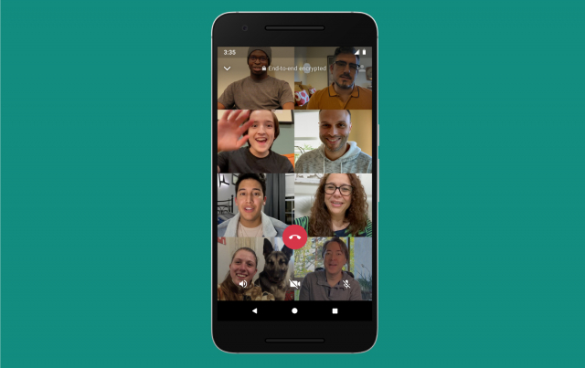 WhatsApp Group Video Calls With Up to 8 Participants