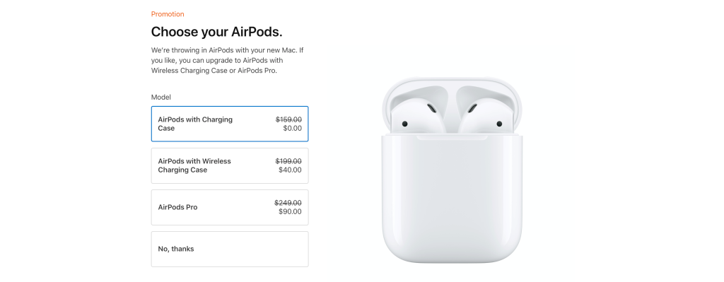 2020 蘋果返校促銷:購買 Mac 和 iPad 免費獲得 AirPods