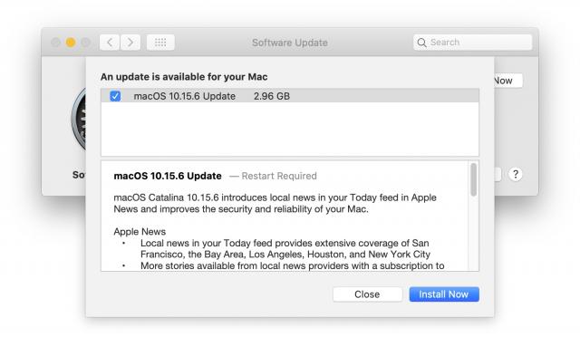 蘋果發布 macOS Catalina 10.15.6 更新!提高電池續航